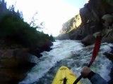 Extreme Whitewater Kayaking Carnage Gilman Gorge - Vail, CO