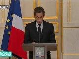 "Nicolas Sarkozy annonce des mesures ""anti-terroriste"""