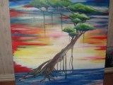 Arbre de vie, peinture acrylique par ZaD artiste peintre.