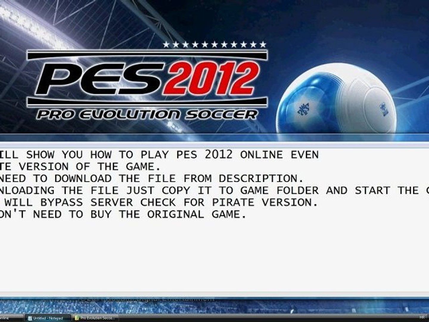 How to play PES 2012 online for free