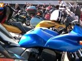 Les motards protestent contre la politique de sécurité routière
