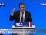 Nicolas Dupont-Aignan se pose en candidat hors système