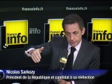 """Sarkozy: hausse """"assez modérée"""" du nombre de chômeurs"""