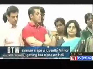 Salman Khan slaps juvenile fan for getting too close on Holi