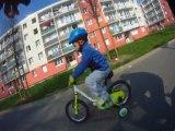Lucas et papa vélo