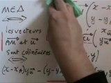 Mathématiques, équations de droites, partie 1/3