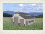 Monitor Barn Plans with Living Quarters -  Barn Floor Plans