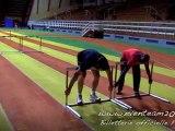 Sébastien Chabal teste les JO - Le 110 m haies avec Ladji Doucouré