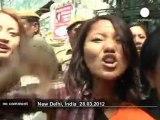 Affrontements entre manifestants tibétains... - no comment