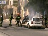 Ficarazzi: paura per auto in fiamme