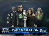 stephanie mcmahon triple h and dx arriving backstage and entrance smackdown 2.17.00..wmv_(360p)