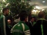 Οι παίκτες του Παναθηναϊκού στο ξενοδοχείο μετά το διπλό