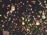 OVNI meprises possible (traditionnelles lanternes thai)
