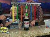 Distributeur de Coca-Cola qui marche au mentos