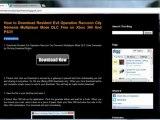 Resident Evil Operation Raccoon City Nemesis Multiplayer Mode DLC Redeem Codes  Xbox 360 - PS3