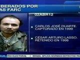 Información de los 10 liberados por las FARC