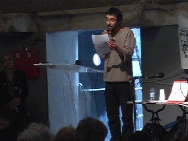 Meeting des 39, 17 mars 2012 à Montreuil : Slam, Camille, Armelle