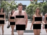 4 sexy beauties stripping in Beverly Hills; : new streakers