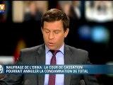 """Naufrage de l'Erika : """"régression considérable"""", selon Lepage sur BFMTV"""