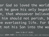 John 3:16-19 - For God So Loved The World That He Gave - Bible Verse Christian Video - KJV