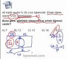 KPSS Matematik yüzde problemleri örnek soru çözümleri