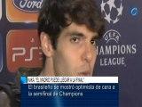 """Deportes / Fútbol; Real Madrid, Kaká: """"El Madrid puede llegar a la final"""""""