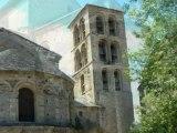 visite de l'abbaye de  caunes  minervois vues de la cité de carcassonne
