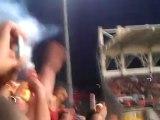 Selçuk İnan'ın Manisaspor'a attığı penaltı golü (tribün çekimi)