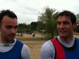 Réactions d'Edwin Lucas et de Vincent Lecrubier après leur titre de Champion de France de K2 500m à Angers