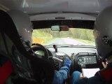 Rallye Val d'agout 2012 es1 AZEMA Remi / FERRIE Mathieu saxo A6K sortie+ plus de frein+ sur chaufe moteur