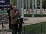 18ème Commémoration du Génocide des Tutsi au Rwanda, Paris, 7 avril 2012 - M. Alain Gauthier, CPCR