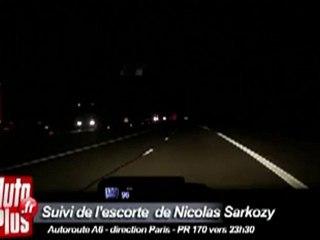 L'escorte de Sarkozy filmée à près de 200 km/h