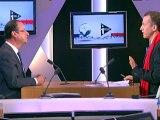 François Hollande invité de Christophe Barbier sur i>Télé le 10 avril