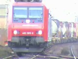 Züge beim Bf Rheinbrohl, 143, 2x 151, 2x 185, 4x 140, SBB Re482, Railion 189, ERS 189, 2x 425
