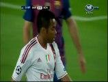 Saque de Arco de Valdez, Milan parado en mitad de cancha ('21) - Barcelona vs Milan - Champions League 2011/2012