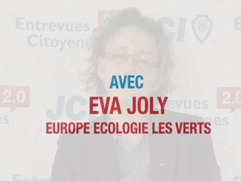 A la dernière minute : Eva Joly refuse de participer aux Entrevues Citoyennes 2.0