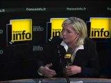 """Marine Le Pen : """"La droite a été complètement pourrie par l'idéologie de la gauche"""""""
