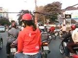 Saigon - Moto taxi dans la ville - Mars 2012