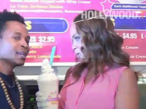 Evelyn Lozada visits Millions of Milkshakes
