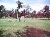 Lecon de golf... Première!