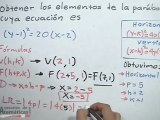 Obtener los elementos de la parábola con vértice fuera del origen, dada su ecuación (PARTE 1)