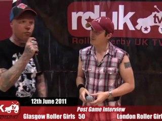 Glasgow Roller Girls vs London Roller Girls (12-08-2011) - Post Bout Interview GRG
