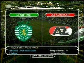 Sporting - 2 AZ Alkmaar - 1 de 2004/2005 1/2 Final Taça Uefa