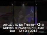 Meeting de soutien à François Hollande - Lille