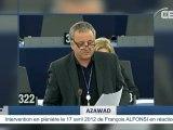 Les Touaregs (peuple berbère) de l'AZAWAD (MALI) - Intervention de François ALFONSI au Parlement Européen - par CBF TV
