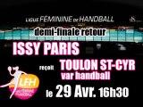 ISSY PARIS HB reçoit TOULON ST CYR VAR HB - Ligue Féminine de Handball