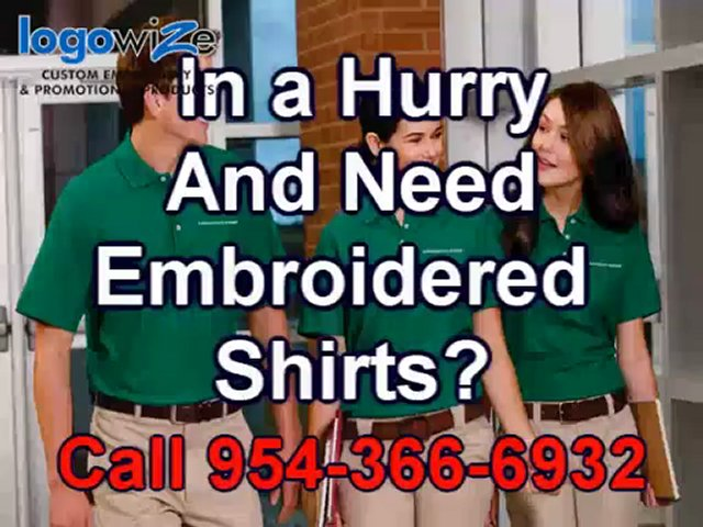 Custom Embroidered Shirts Ft Lauderdale