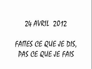 Sarkozy ne lâche rien - Balto 24 avril
