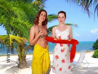 Как завязать красиво парео и платок летом