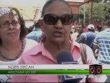 200 familias protestan frente a la CVG en Bolívar para exigir entrega de títulos de viviendas